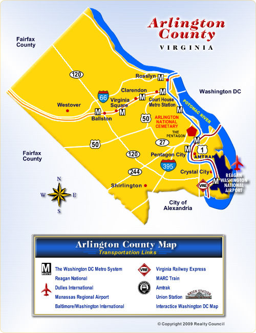 Map of Arlington County Virginia Communities