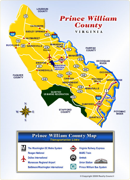 Map of Prince William County Virginia Communities